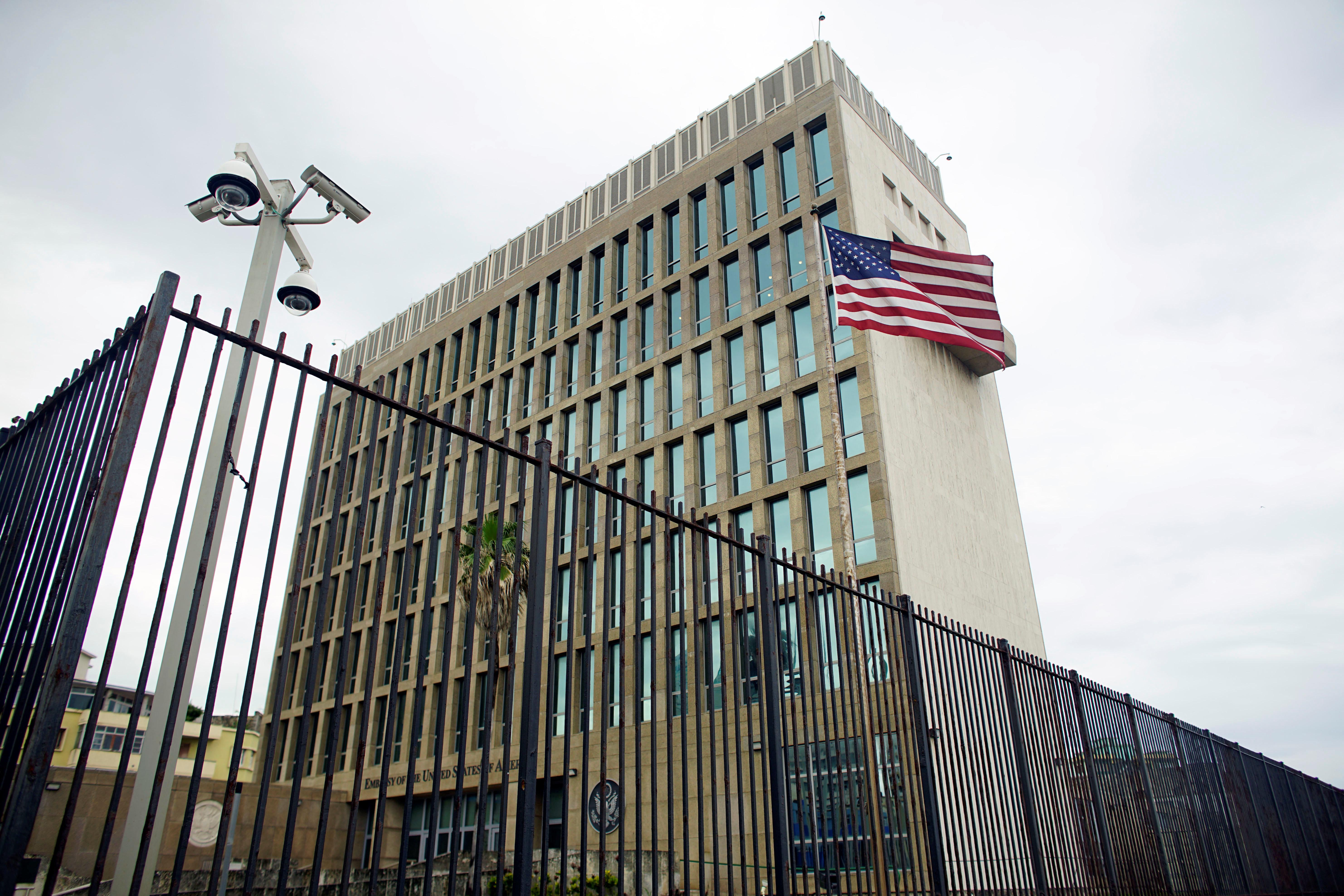 An exterior view of the U.S. Embassy is seen in Havana, Cuba, June 19, 2017. REUTERS/Alexandre Meneghini