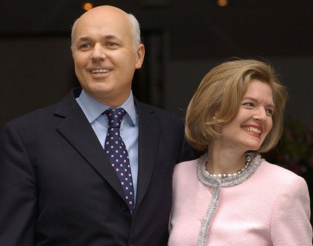 Duncan Smith with his own wife,