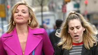 Kim Cattrall and Sarah Jessica Parker (Photo by James Devaney/WireImage)