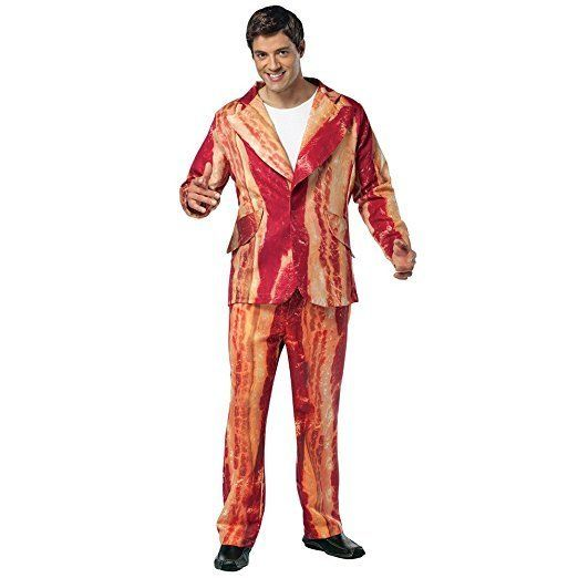 """<a href=""""https://www.amazon.com/Rasta-Imposta-Bacon-Suit/dp/B00C3DINRE?tag=thehuffingtop-20"""" target=""""_blank"""">Shop it here</a>"""