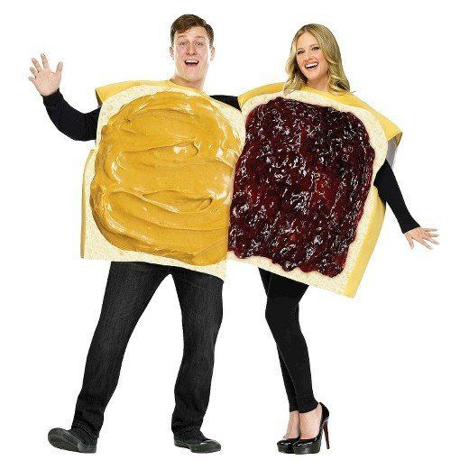 """<a href=""""https://www.target.com/p/adult-peanut-butter-and-jelly-couple-costume/-/A-16505379"""" target=""""_blank"""">Shop it here</a>"""