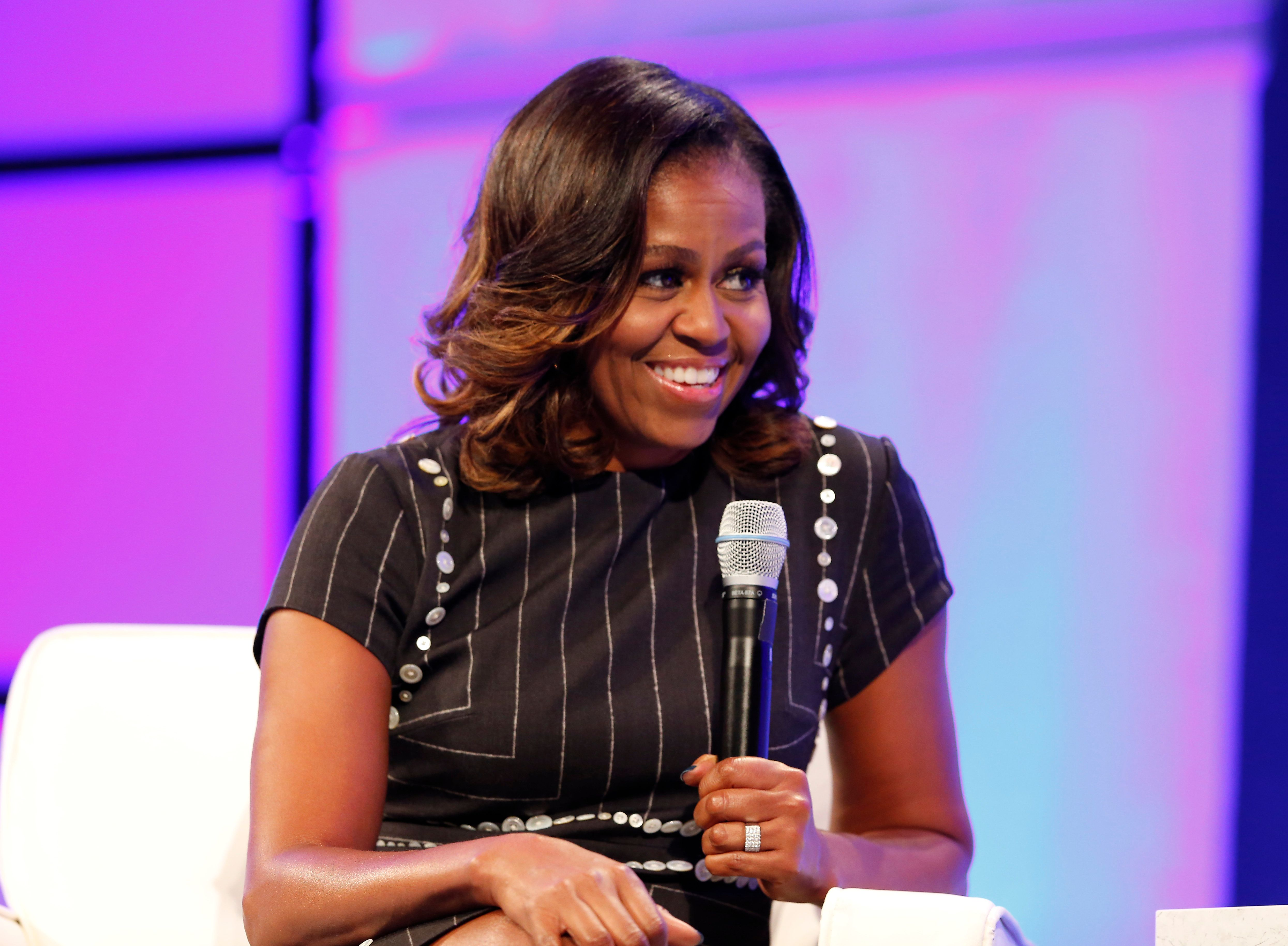 On Tuesday, Michelle Obama appeared at the Pennsylvania Conference for Women.