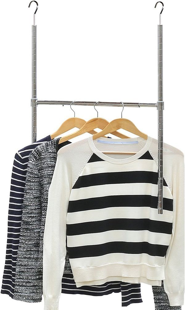 "Run out of space to hang your clothes? Add another row of clothing with this minimalist closet rod. Get it on <a href=""https:"