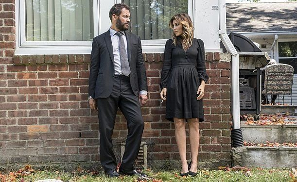 "Dominic West and Jennifer Esposito in a scene from ""The Affair."""