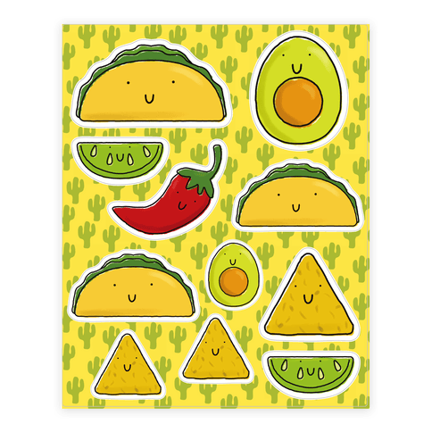 """<a href=""""https://www.lookhuman.com/design/77124-cute-mexican-food/sticker8x-whi-one_size"""" target=""""_blank"""">Shop it here</a>.&n"""