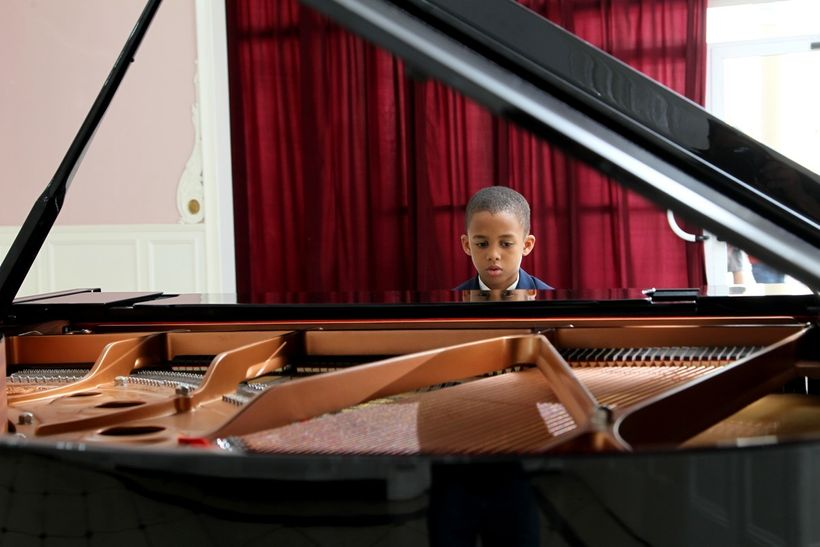 Reynaldo Guanche enters a piano competition in a scene from <strong><em>Esteban</em></strong>