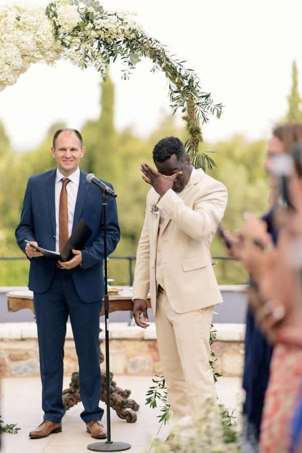 """""""As familiar as we get with emotional moments at weddings, there is always something very touching when the groom cries"""