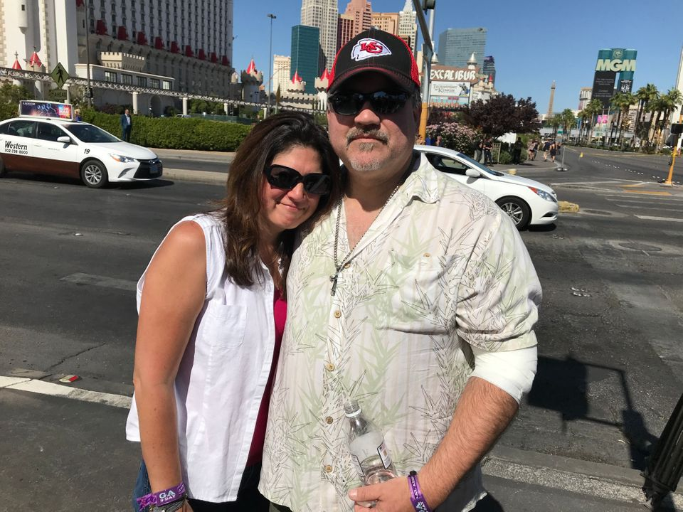 Johanna Ernst and George Sanchez. Sanchez was shot in the arm Sunday