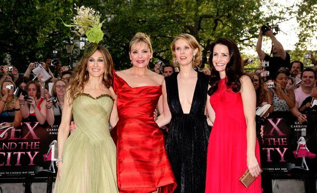 (l-r) Sarah Jessica Parker, Kim Cattrall, Cynthia Nixon and Kristin