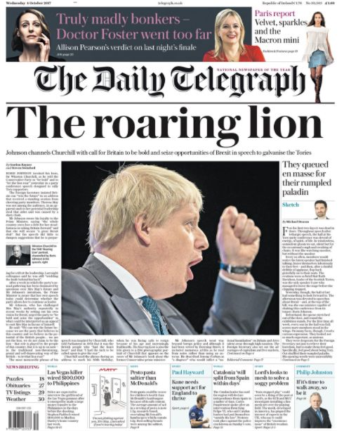 Gary Lineker Mocks Pro-Boris Telegraph Front Page Comparing Him To