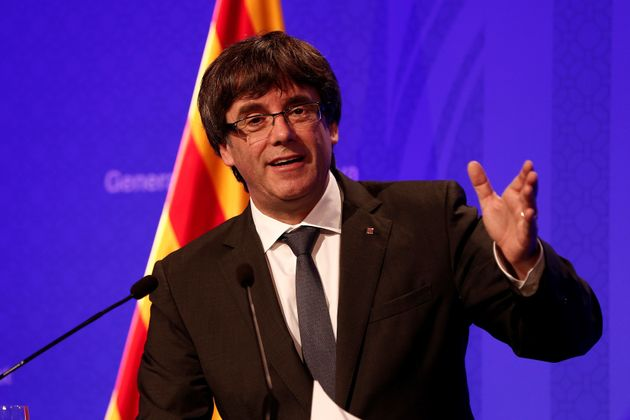 Catalonia's leader,Carles Puigdemont, said his government would 'act at the end of this week...