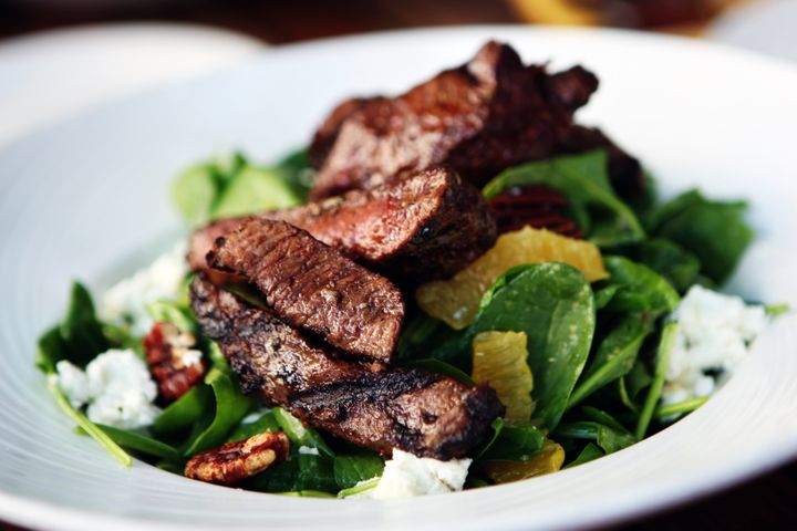 Red meat and spinach can help boost your iron count.