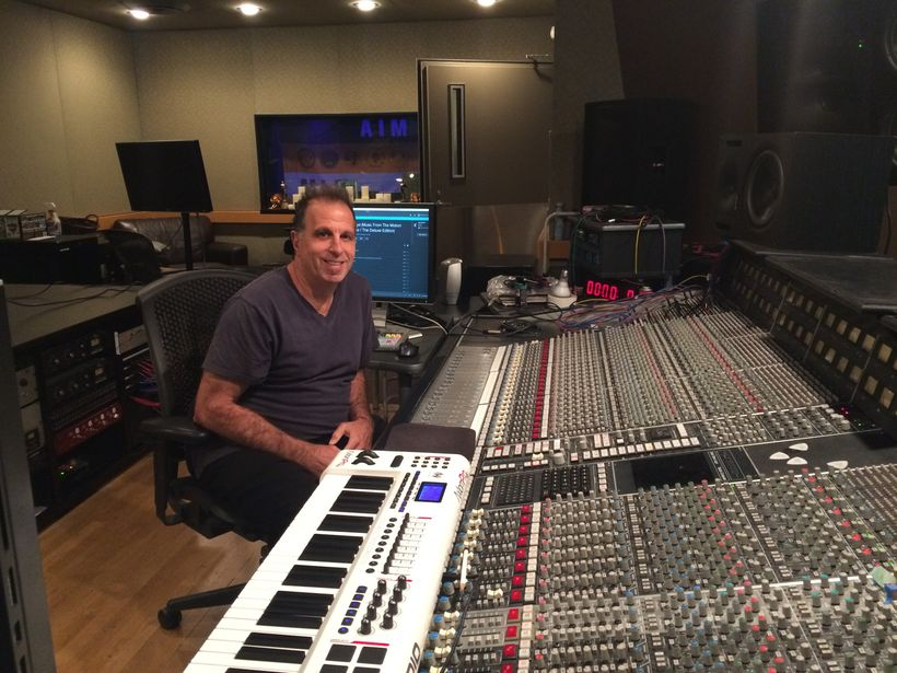 Composer Ira Antelis in his Chicago studio, where he produced 60.life.