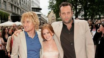 LONDON - JULY 04: Actors (L-R) Owen Wilson, Isla Fisher and Vince Vaughn arrive at 'The Wedding Crashers' World Premiere at the Odeon West End on July 4, 2005 in London, England (Photo by Dave Hogan/Getty Images)