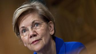 Senator Elizabeth Warren, a Democrat from Massachusetts, listens during a Senate Banking Committee hearing on the Equifax Inc. cybersecurity breach in Washington, D.C., U.S., on Wednesday, Oct. 4, 2017. Lawmakers grilled former Equifax Chief Executive Officer Richard Smith on Tuesday after hackers attacked the company's systems and got access to sensitive information for 145.5 million Americans. Photographer: Andrew Harrer/Bloomberg via Getty Images
