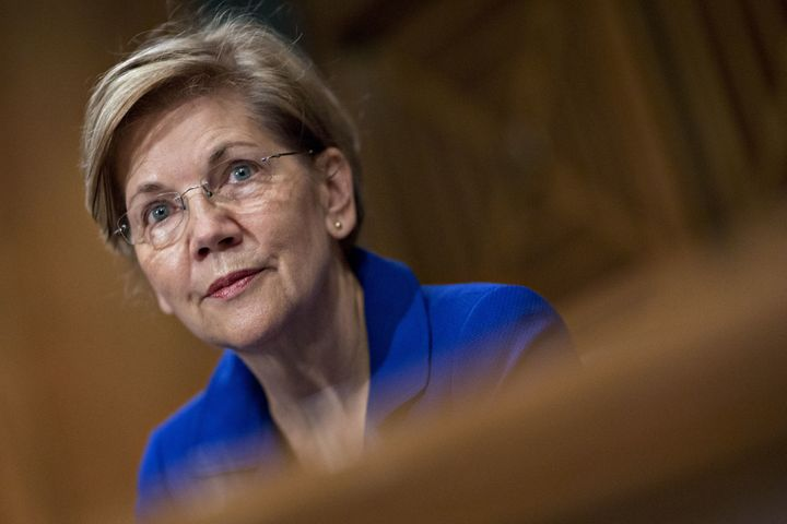 """Sen. Elizabeth Warren (D-Mass.) questioned Equifax CEO Richard Smith on Wednesday, Oct. 4, 2017, about the """"completely out of"""