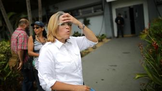 Mayor of San Juan Carmen Yulin Cruz stands outside of the government center at the Roberto Clemente Coliseum days after Hurricane Maria, in San Juan, Puerto Rico September 30, 2017. REUTERS/Carlos Barria