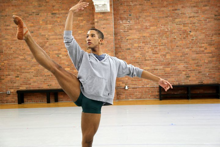 "Houston Ballet dancer Harper Watters in a scene from the documentary ""Danseur."""