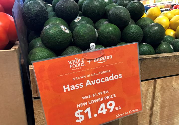 Avocados at a Whole Foods store in San Diego, California on August 28