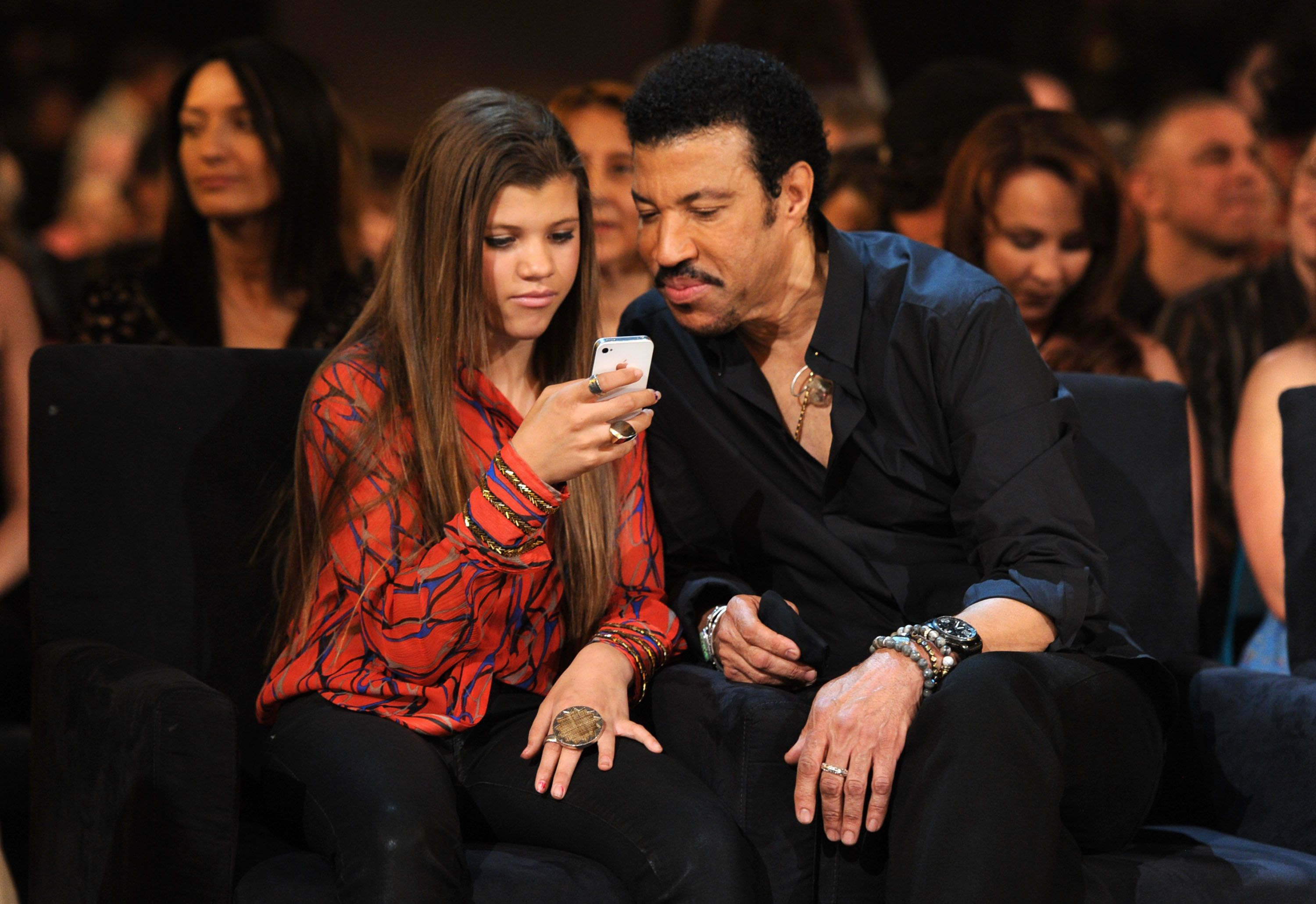 LAS VEGAS, NV - APRIL 02:  Sofia Richie and singer Lionel Richie attend the Lionel Richie and Friends in Concert presented by ACM held at the MGM Grand Garden Arena on April 2, 2012 in Las Vegas, Nevada.  (Photo by Kevin Winter/ACMA2012/Getty Images for ACM)