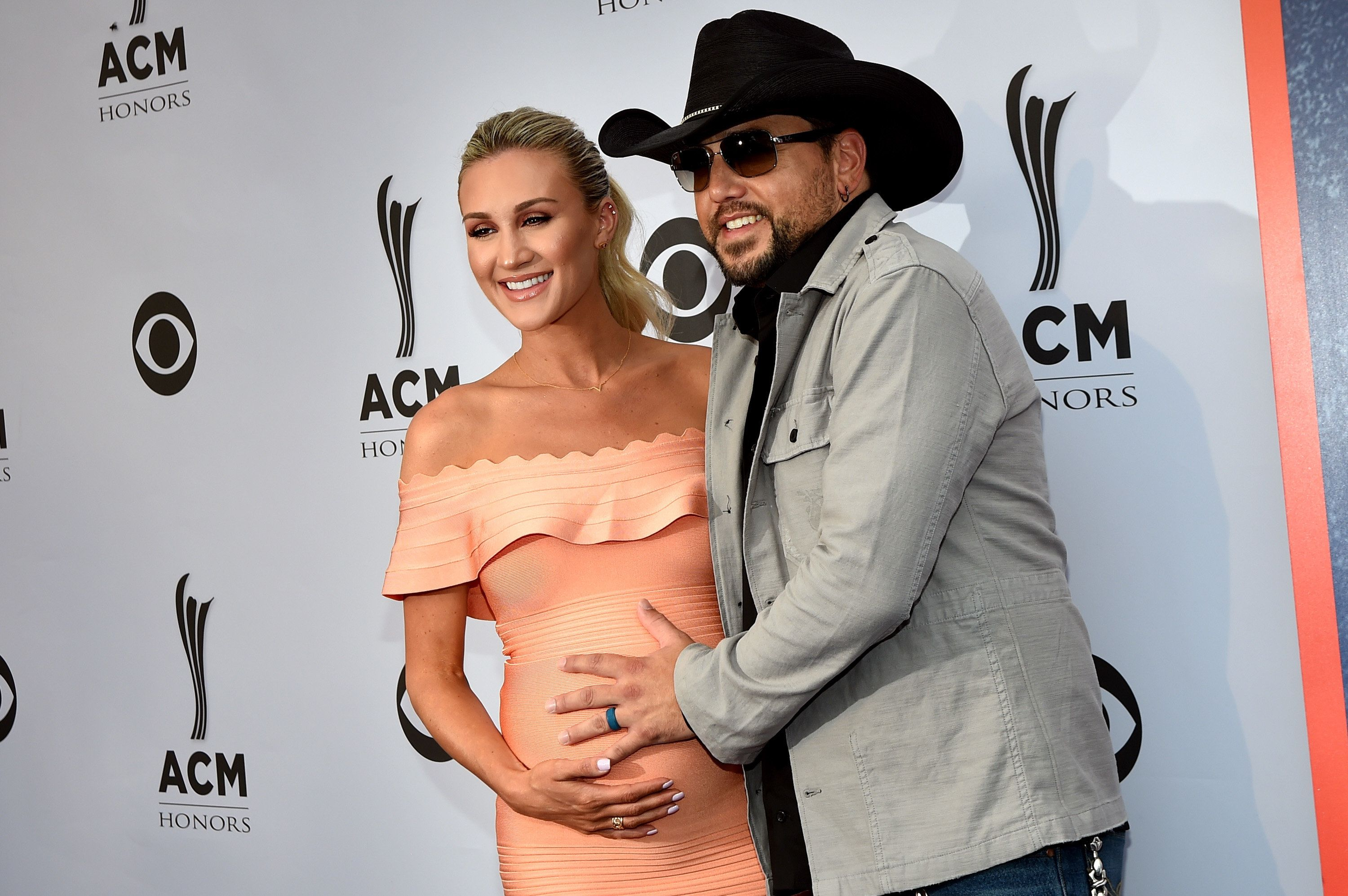 NASHVILLE, TN - AUGUST 23:  Brittany Kerr and singer-songwriter Jason Aldean the 11th Annual ACM Honors at the Ryman Auditorium on August 23, 2017 in Nashville, Tennessee.  (Photo by Rick Diamond/Getty Images for ACM)