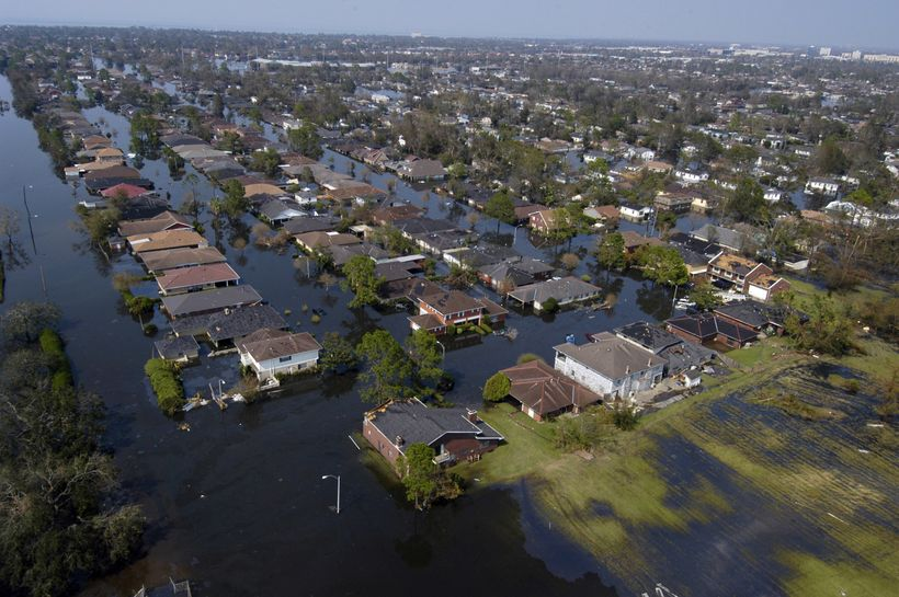 New Orleans (Sept. 2, 2005) - Four days after Hurricane Katrina made landfall on the Gulf Coast, many parts of New Orleans re