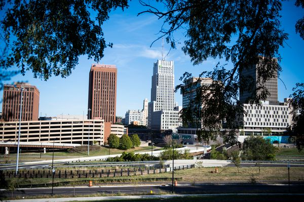 The Akron skyline on Oct. 1.