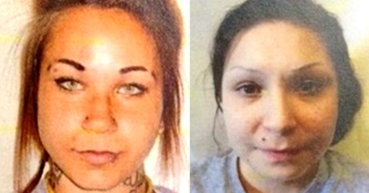 Escaped prisoners Kelsie Laine Marie Mast, left, and Samantha Faye Toope, right, were arrested at an escape room challen