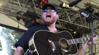 MANCHESTER, TN - JUNE 08:  Luke Combs performs during the 2017 Bonnaroo Arts and Music Festival on June 8, 2017 in Manchester, Tennessee.  (Photo by Tim Mosenfelder/Getty Images)