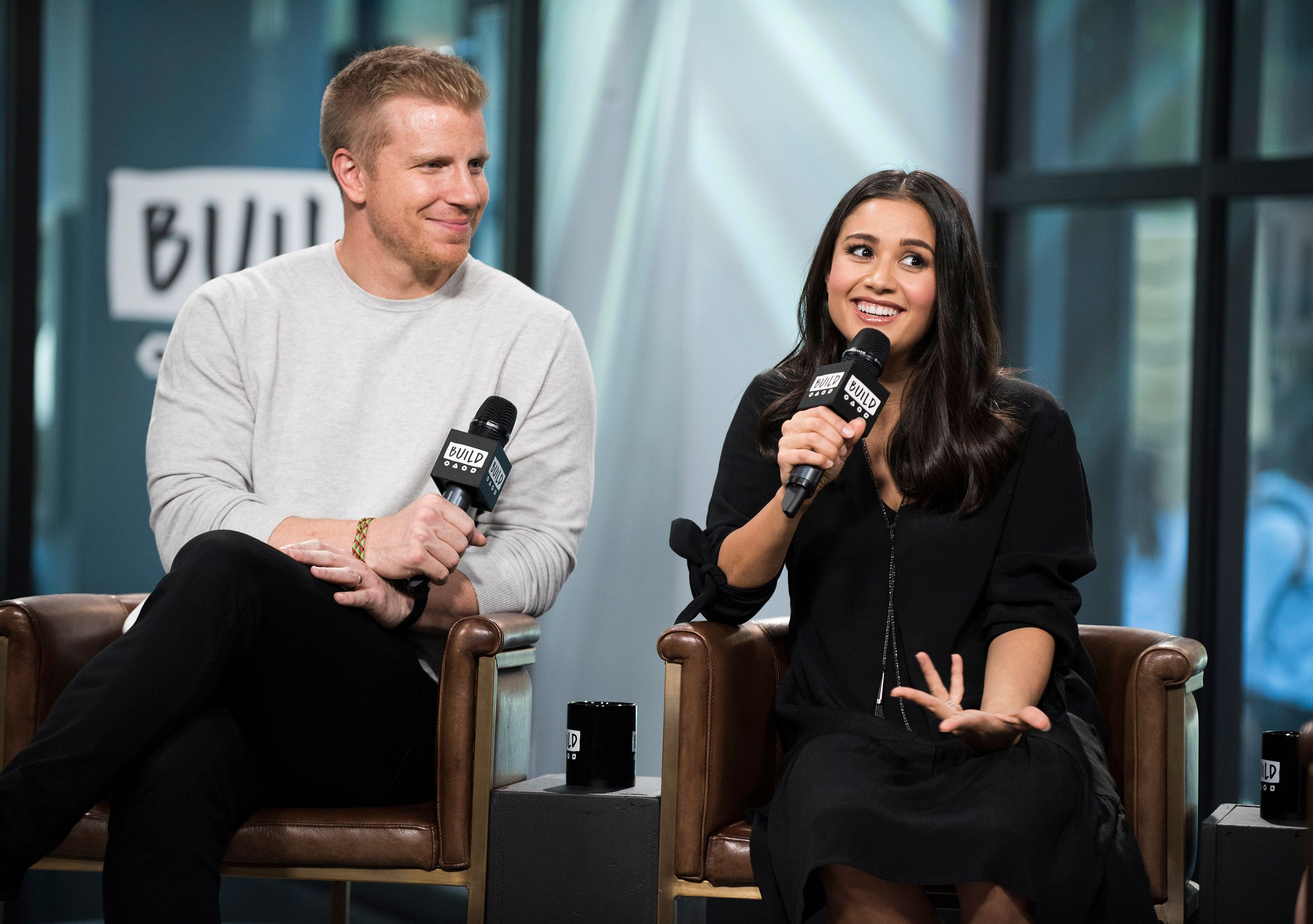 NEW YORK, NY - OCTOBER 04:  Sean Lowe and Catherine Lowe attend AOL Build Series at Build Studio on October 4, 2017 in New York City.  (Photo by Jenny Anderson/WireImage)