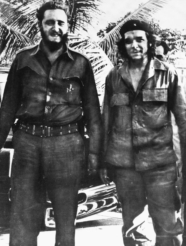 Guevara pictured with Fidel Castro in