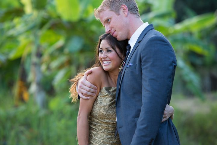 Sean and Catherine after their engagement in Thailand in 2013.