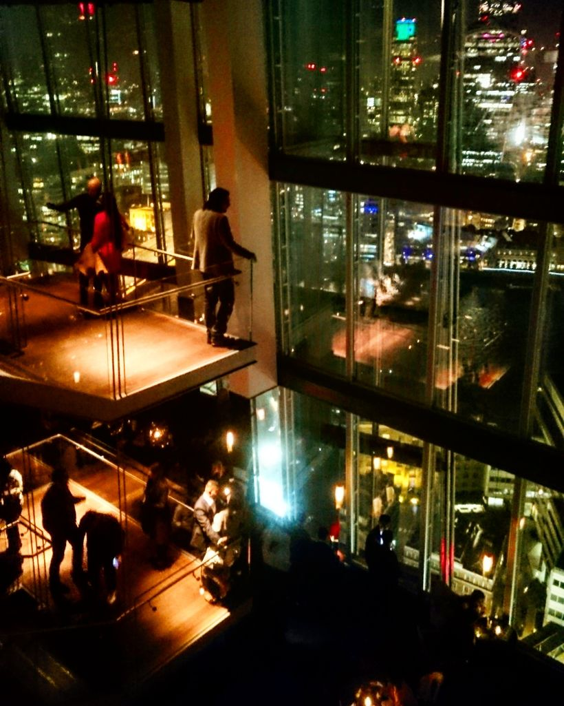 View from the upscale Chinese restaurant, Hutong at The Shard