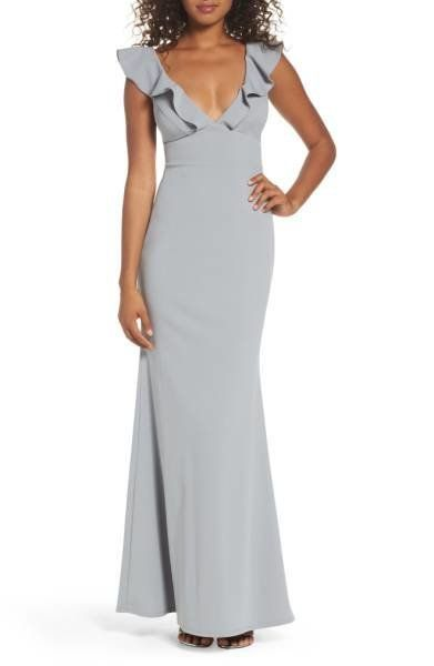"This mermaid gown is perfect for those late fall weddings that tend to be a bit colder. Get it at <a href=""http://shop.nordst"