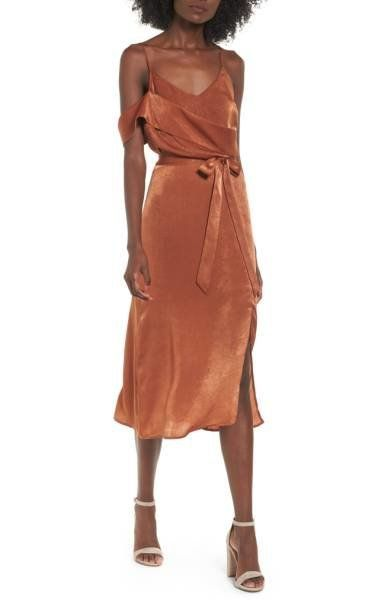 "Get this figure-flattering midi at <a href=""http://shop.nordstrom.com/s/j-o-a-cold-shoulder-midi-dress/4678679?origin=categor"