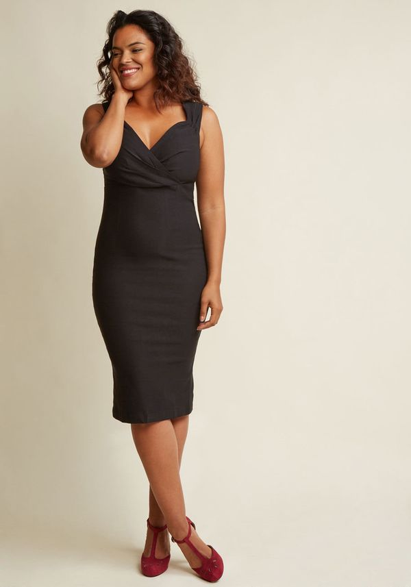 "A black sheath dress that will flatter any body type. Get this fail-proof dress at <a href=""https://www.modcloth.com/sho"