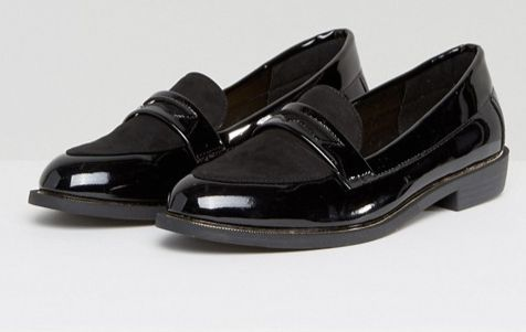 "<a href=""http://us.asos.com/new-look-wide-fit/new-look-wide-fit-metal-detail-patent-loafer/prd/7975375?clr=black&SearchQu"
