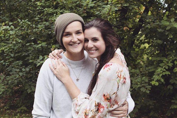 "GraceBaldridge (left) and Elizabeth ""Lizzie"" Capel are planning on a summer 2018 wedding in Malibu, California."