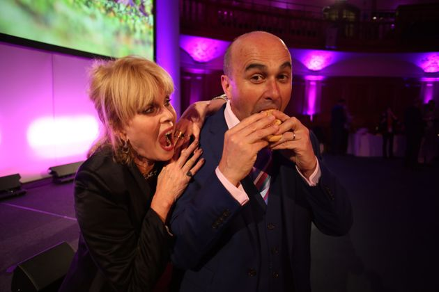 Joanna Lumley and Philip Lymbery, CEO of Compassion in World Farming, at the Extinction and Livestock...