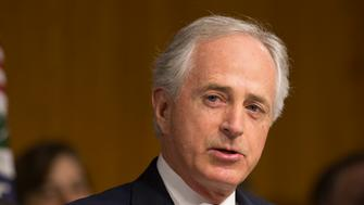 Senator Bob Corker(R-TN) chairs the confirmation hearing of Former ExxonMobil CEO Rex Tillerson to be US Secretary of State on Capitol Hill in Washington DC, January 11, 2017.  / AFP / CHRIS KLEPONIS        (Photo credit should read CHRIS KLEPONIS/AFP/Getty Images)