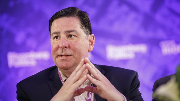 Bill Peduto, mayor of Pittsburgh, speaks during a Bloomberg Government panel on the sidelines of the Democratic National Convention (DNC) in Philadelphia, Pennsylvania, U.S., on Monday, July 25, 2016. The Democratic National Committee gloated as Republicans struggled to project unity during the party's national convention, but they are now facing a similar problem after their leader resigned on the eve of their own gathering. Photographer: Patrick T. Fallon/Bloomberg via Getty Images