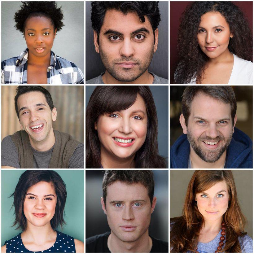 The cast. <em>Top row, left to right</em>: Dani Woodson, Nardeep Khurmi, and Sierra Santana. <em>Middle row</em>: Jonathan Br