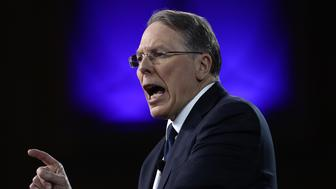 NATIONAL HARBOR, MD - FEBRUARY 24:  Wayne LaPierre, Executive Vice President of the National Rifle Association, addresses the Conservative Political Action Conference at the Gaylord National Resort and Convention Center February 24, 2017 in National Harbor, Maryland. Hosted by the American Conservative Union, CPAC is an annual gathering of right wing politicians, commentators and their supporters.  (Photo by Win McNamee/Getty Images)