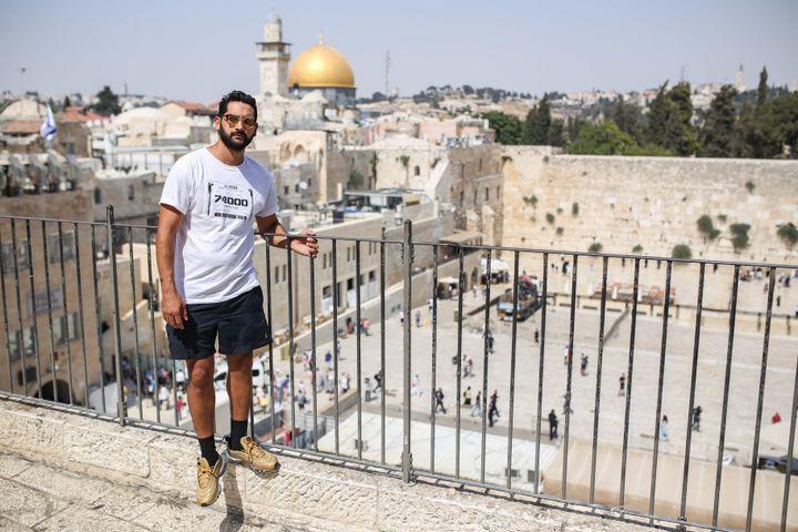 Manolo López in Jerusalem. July 2017