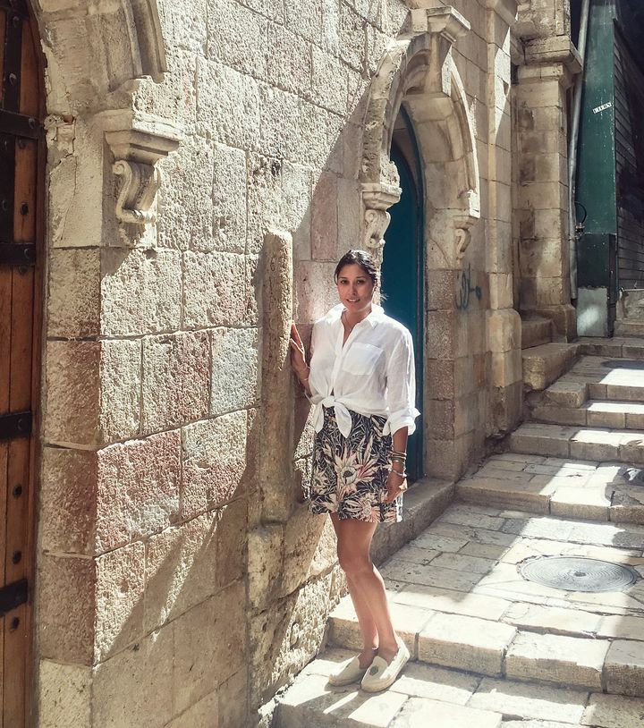 Veronica Juarez in Jerusalem. July 2017