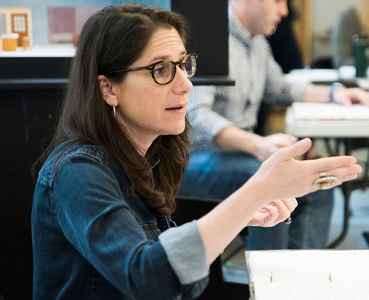 Director Anne Kauffman in rehearsal for <em>Marvin's Room</em>