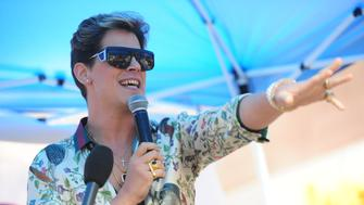 Milo Yiannopoulos speaks at rally - Alt-right characters hold rally in front of CUNY on East 42nd St. and 3rd ave to protest against CUNY's choice of Muslim-American activist Linda Sarsour as commencement speaker on Thursday May 25, 2017 - (Photo by Susan Watts/NY Daily News via Getty Images)