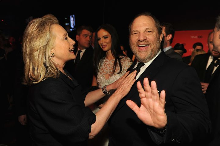 Secretary of State Hillary Rodham Clinton and producer Harvey Weinstein attend the TIME 100 Gala, TIME'S 100 Most Influential