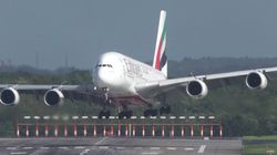 Emirates A380 Makes Bumpy Landing During