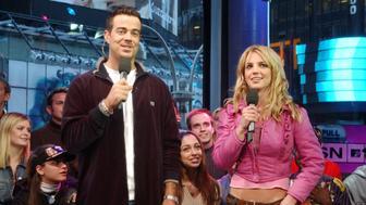 Carson Daly & Britney Spears (Photo by KMazur/WireImage)